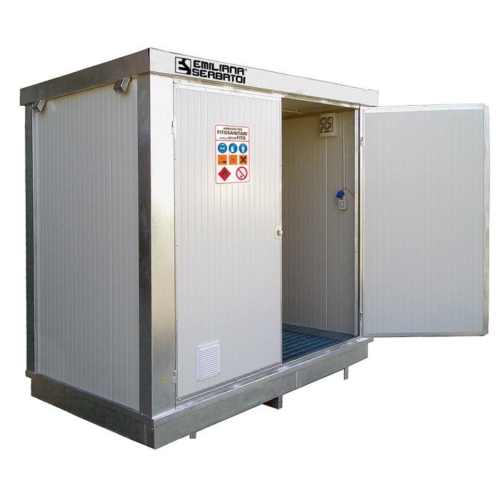 Container coibentato linea ecologica for Box in lamiera usati
