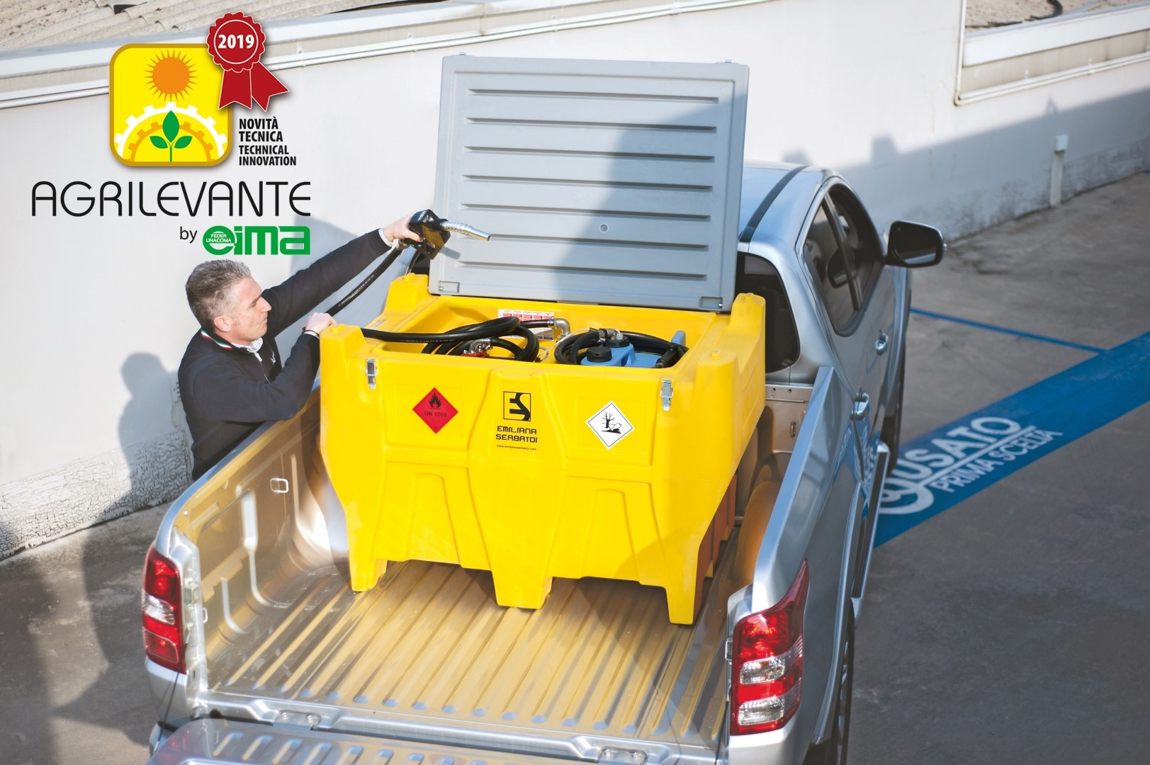 Il Carrytank® Pick-up premiato come Novità tecnica ad Agrilevante