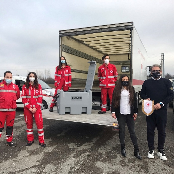Emiliana Serbatoi is still close to health sector: granted a tank to the Italian Red Cross