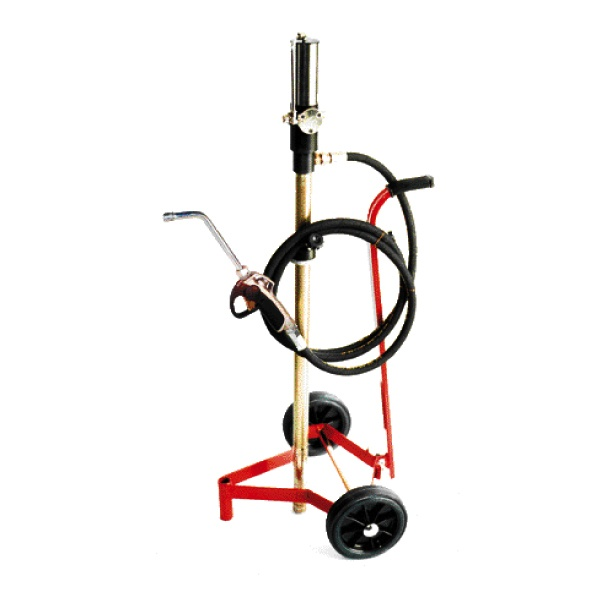 Air operated pump for oil