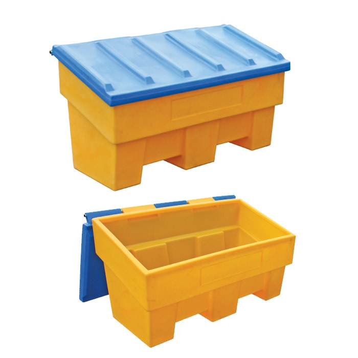 Polyethylene box for sand, salt and absorbing items