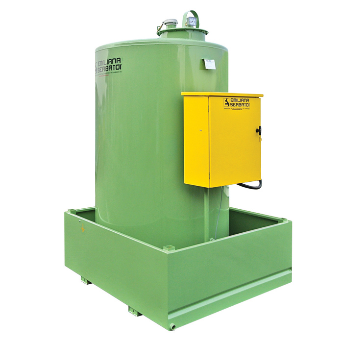Single wall vertical Tank Fuel