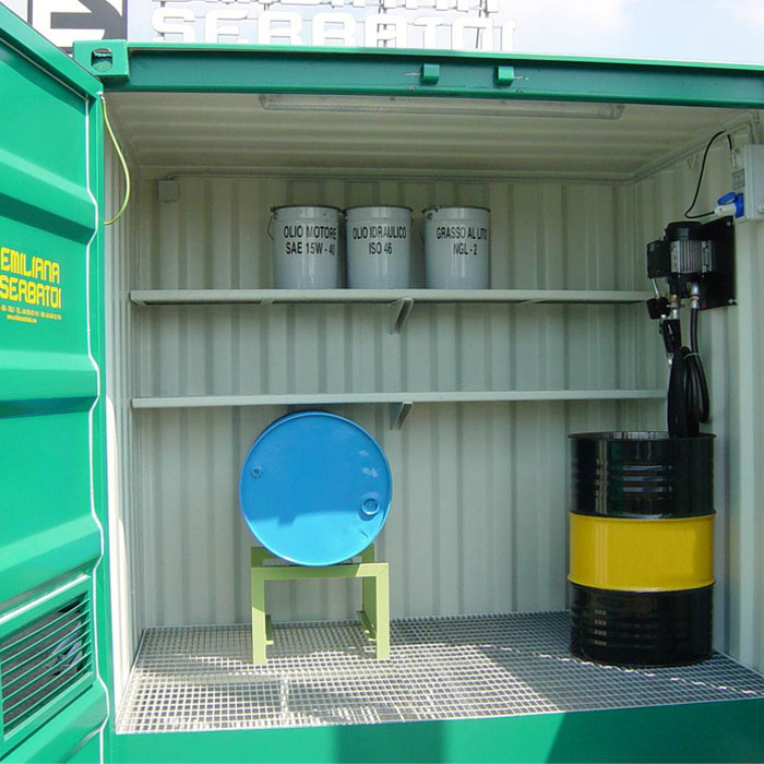 Oil fuel container