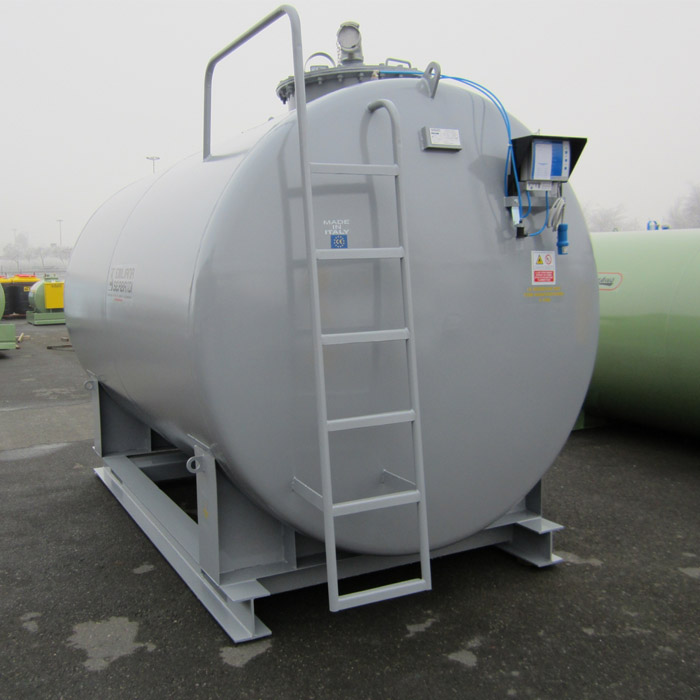 Palletized steel tank, capacity 10 cm